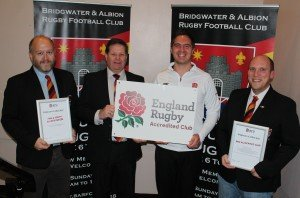England Rugby Accreditation Honours at Bridgwater & Albion RFC