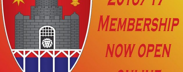 16/17 Memberships now open online