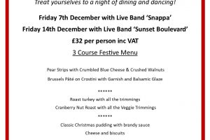 Christmas Dinner and Dance Reminder – Get those tables booked!