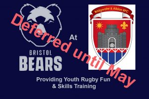 Bristol Bears Youth Day @ BARFC on Sunday Postponed