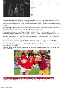 Lions Update from Bridgwater Rugby